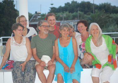 Gruppenbild auf der Zorbas-Terasse