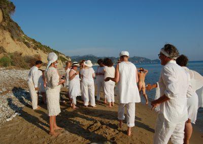 Ritual am Strand