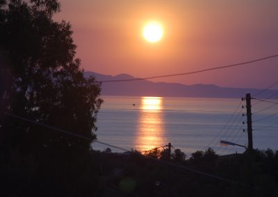 Sonnenuntergang am Klippencafe
